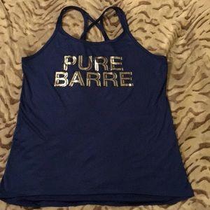 Pure Barre strappy workout tank Royal Blue Sz M